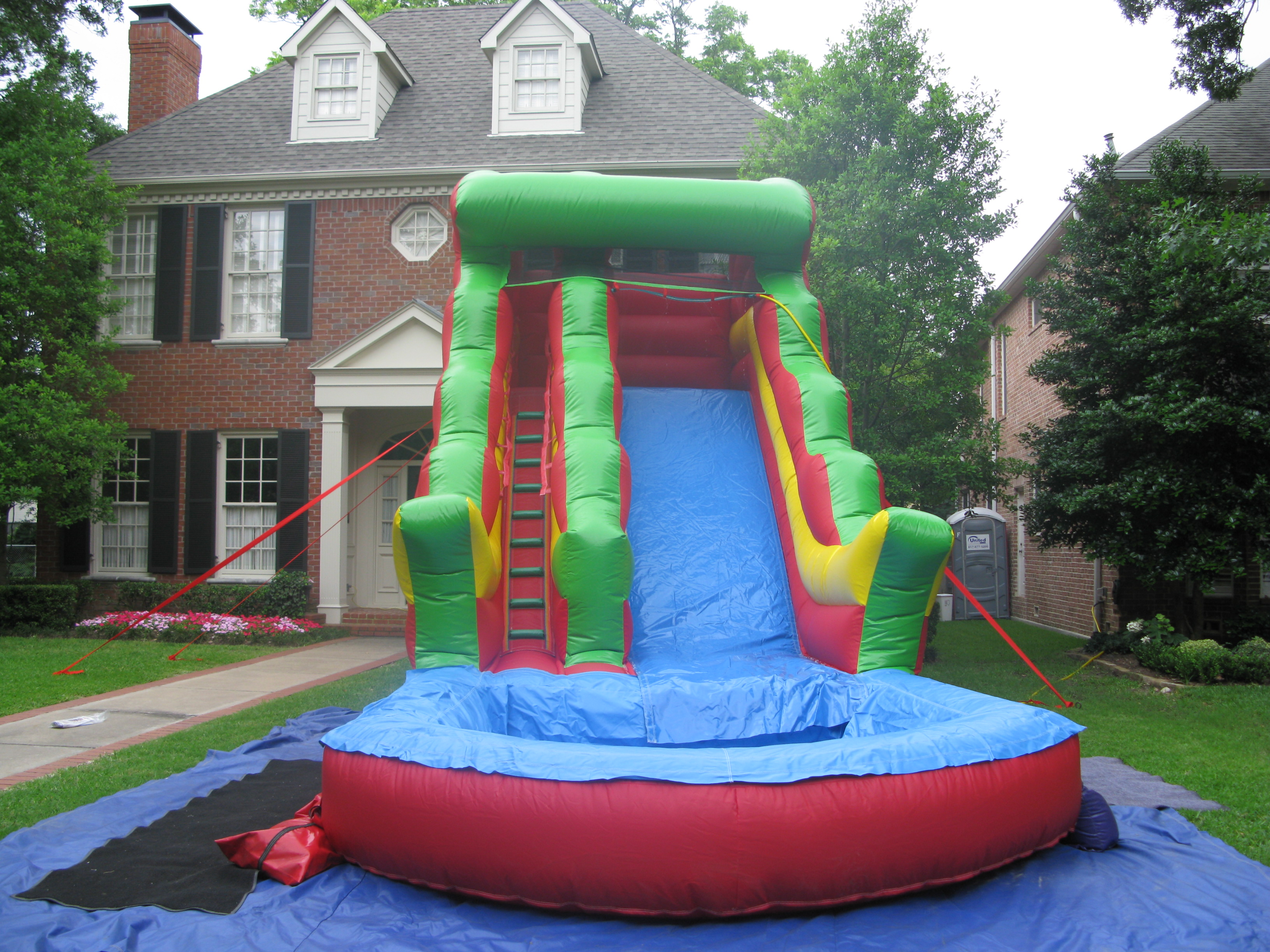 water slides for rent in dallas bounce house water slide rentals